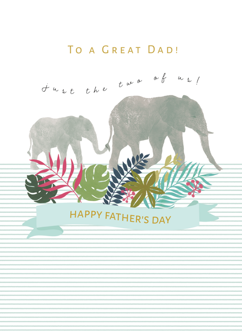 Just the Two of Us Father's Day Card