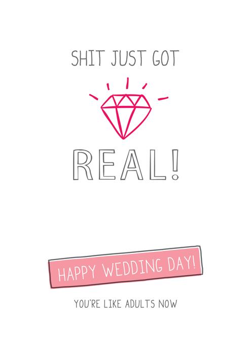 Sh*t Just Got Real Wedding