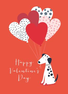 Dog Heart Balloon