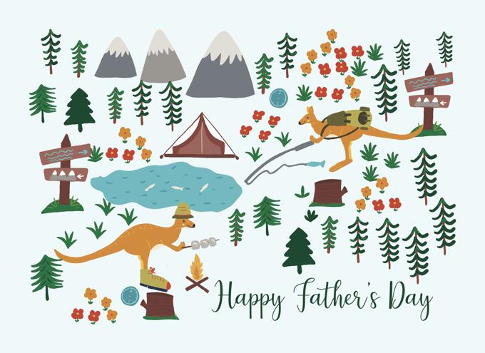 Father's Day Kangaroo Camping