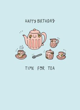 Time for Tea Happy Birthday