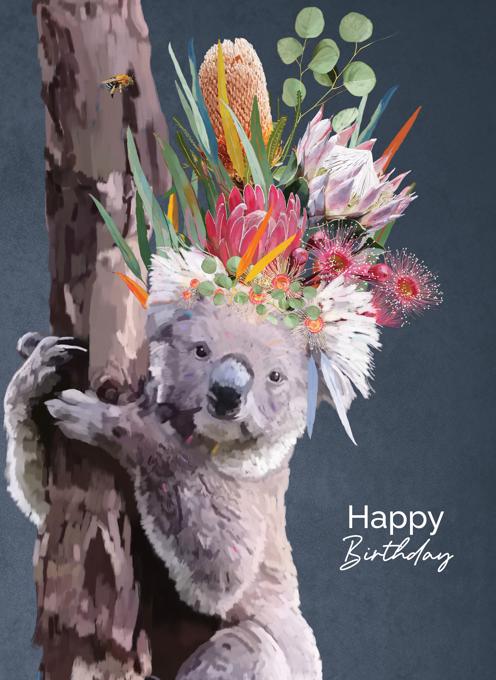 Koala Love - Happy Birthday Card