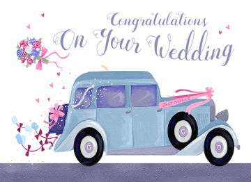 Wedding Congratulations Classic Car