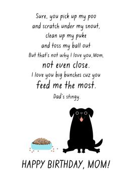 Black Dog Mom Birthday