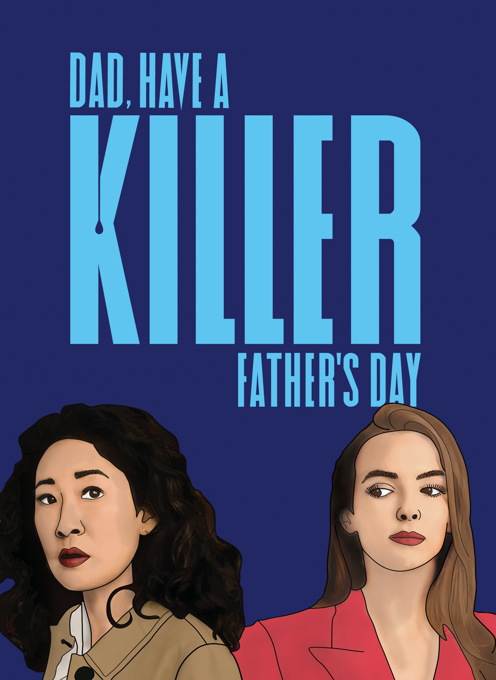 Killing Eve Father's Day Card