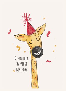 Happy Birthday Giraffe Neck
