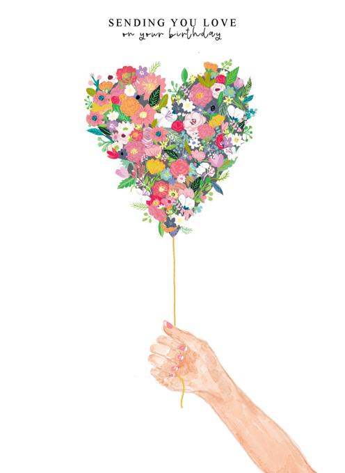 Floral Heart Balloon