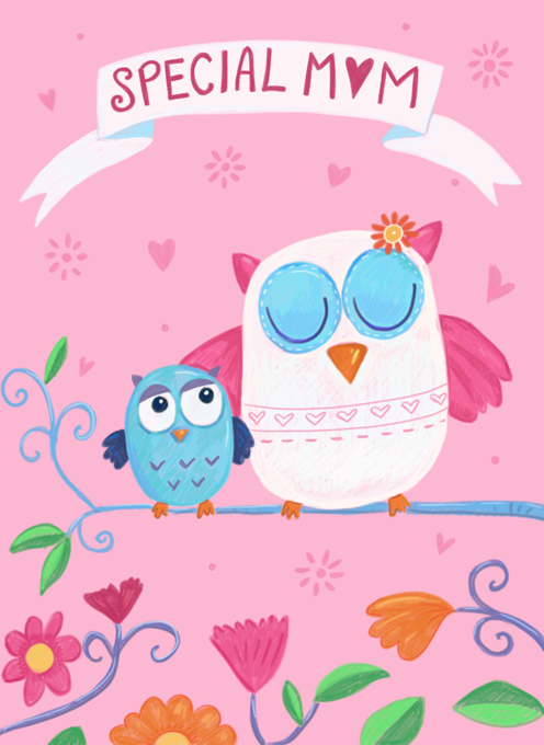 Special Mother Cute Owls