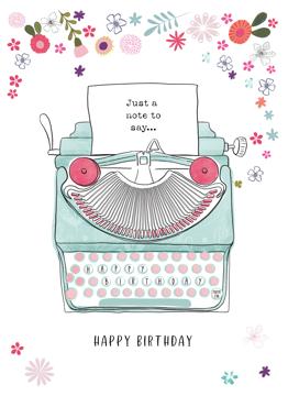 Vintage Birthday Typewriter