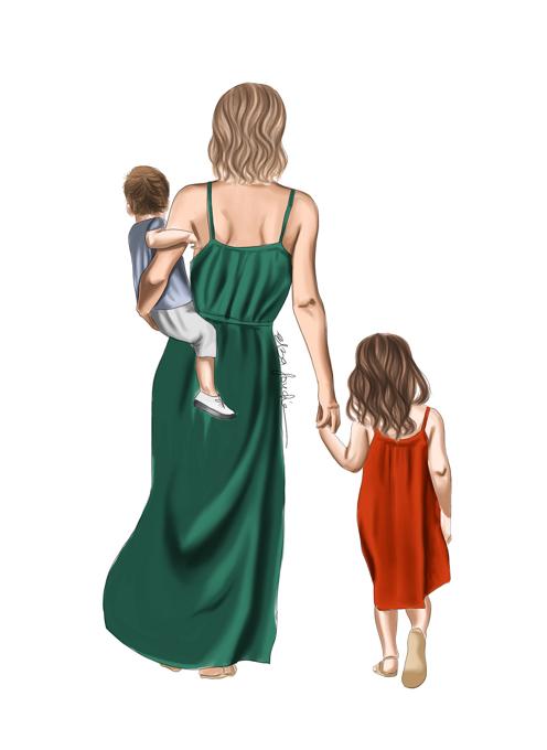 Mum with her Children