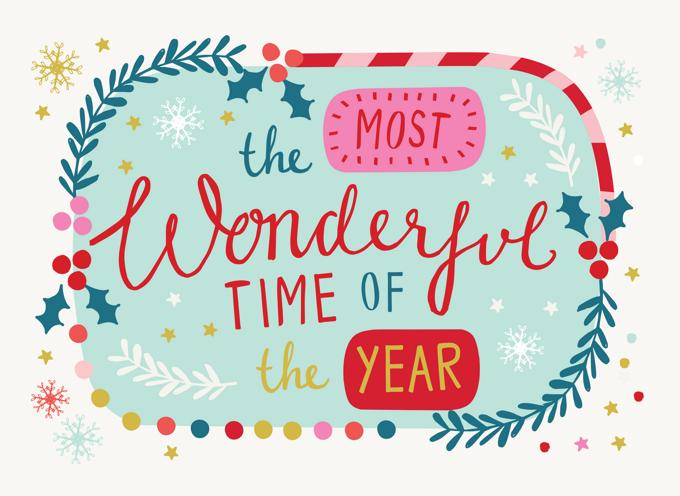 Wonderful Year Typography Christmas