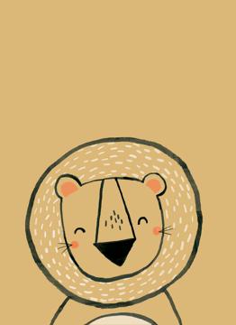 Inky Line Lion