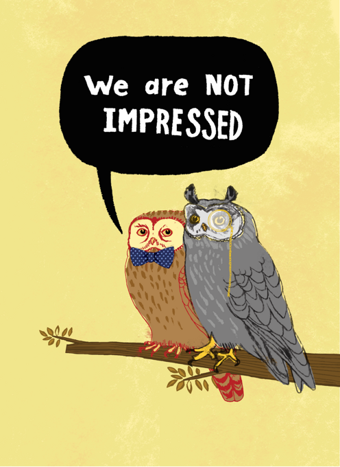 Owls, Not Impressed
