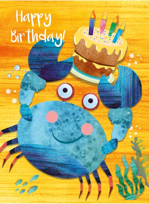 Crab Happy Birthday