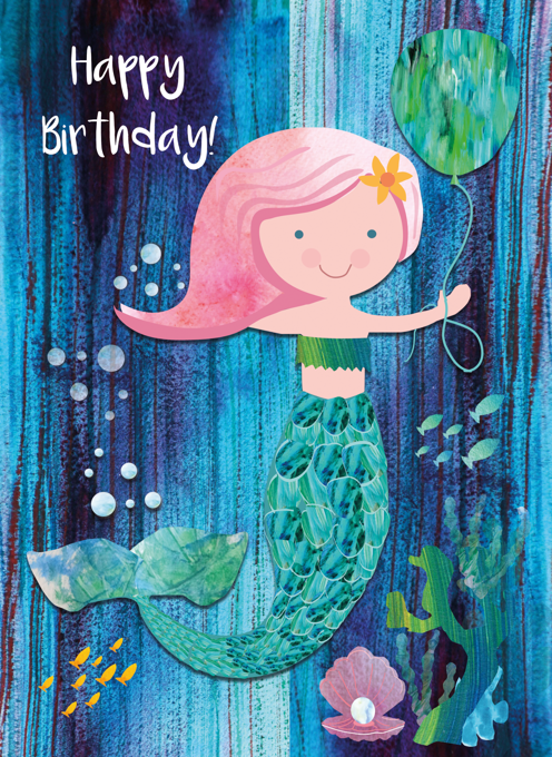 Mermaid Happy Birthday
