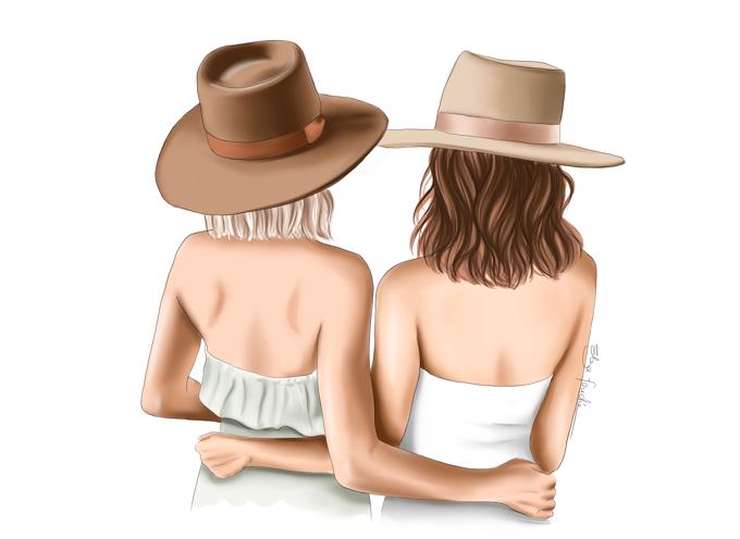 Besties In Hats