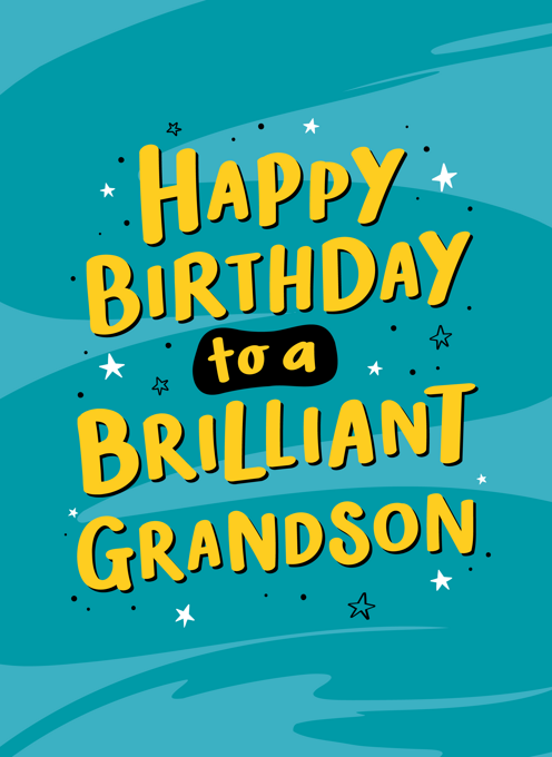 Brilliant Grandson Birthday Card
