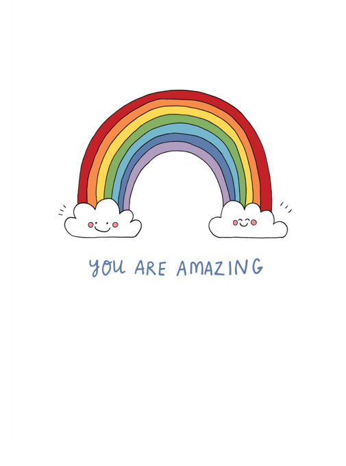 You Are Amazing Rainbow Card
