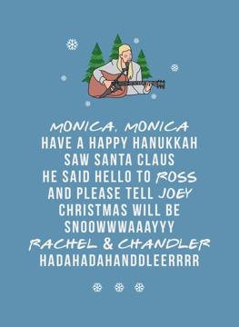 Friends TV Show - Christmas Card