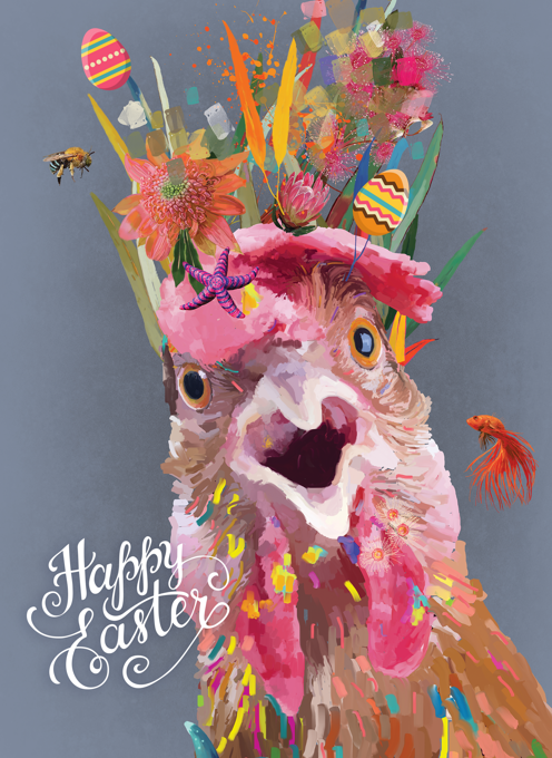 Happy Funky Chicken Easter