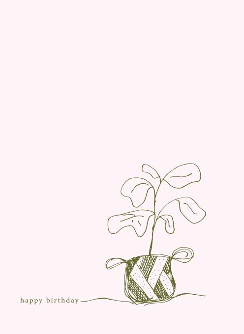 Birthday Fiddle Leaf