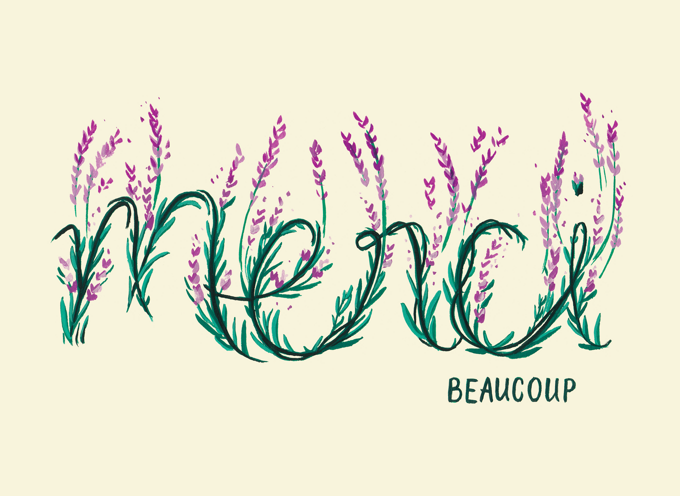 Merci Floral - French Thank You