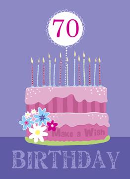 Birthday Cake 70