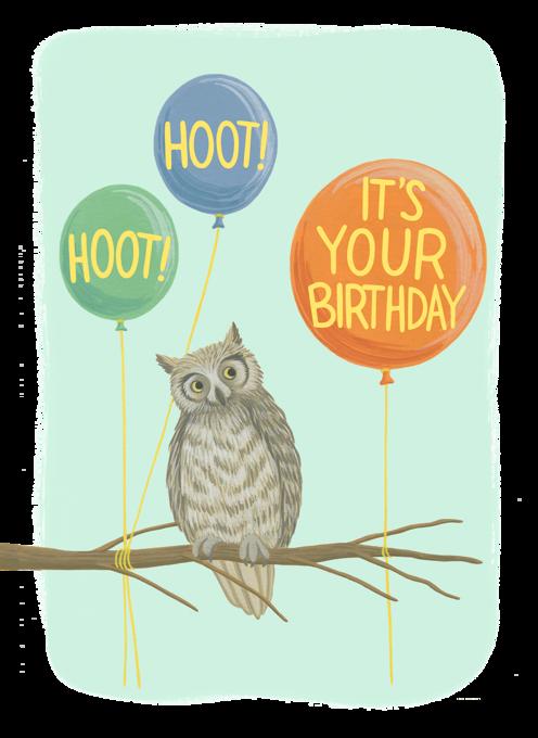 Owl and Balloons Birthday