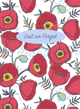 Anzac Lest We Forget Poppies