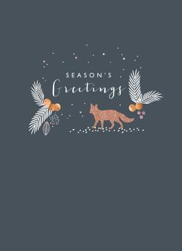 Christmas Glitter Fox