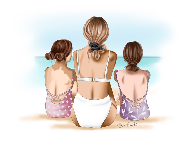 Mother & Daughters Beach Day