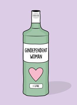 Gin Dependant Woman