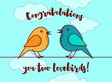 Congratulations you two lovebirds!