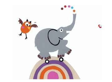 Elephant, Owl & Rainbow