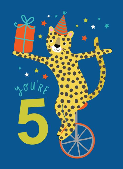 Leopard Blue 5th Birthday
