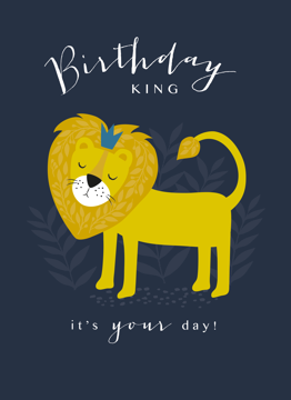 Birthday King Lion