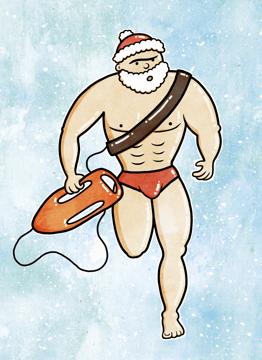 Santa Baywatch