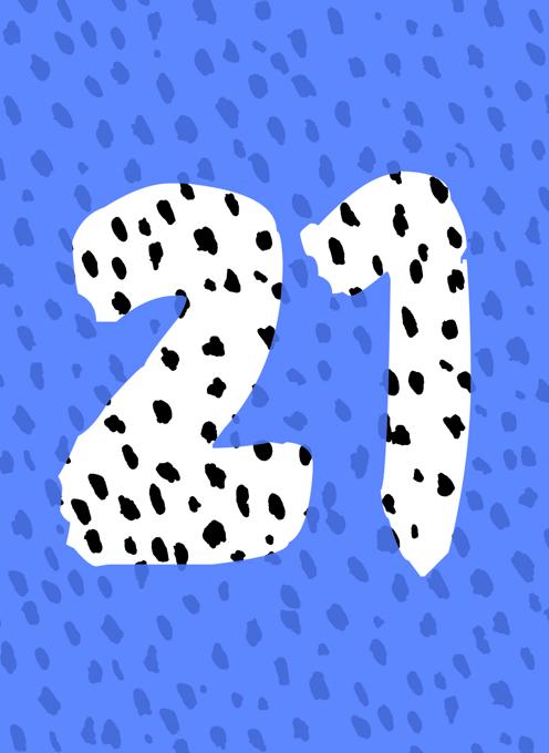 21st Birthday - Dalmatian Spots