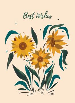 Best Wishes Sunflower