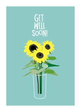 Get Well Sunflowers