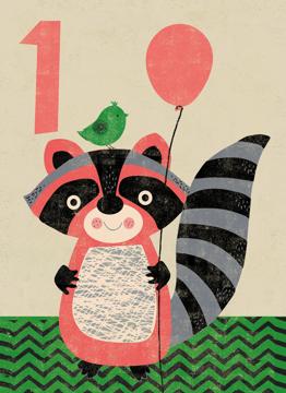 Age 1 Raccoon