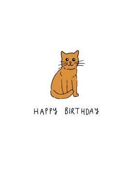 Happy Birthday Cat