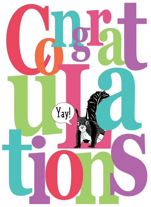Congratulations Squirrel