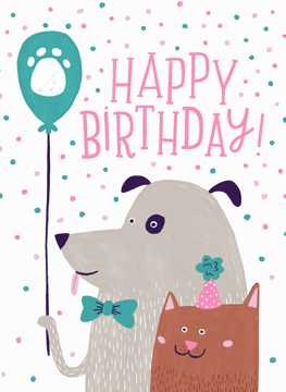 Dog and Cat Birthday Wishes
