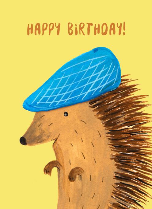 Birthday Hedgehog - Happy Birthday!