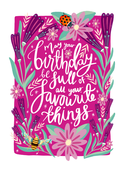 Birthday of Favourite Things
