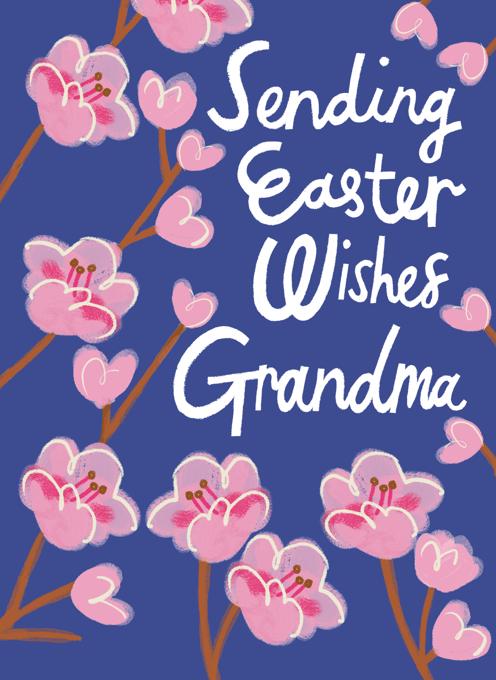 Sending Easter Wishes, Grandma