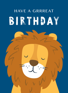 Grrreat Birthday Lion
