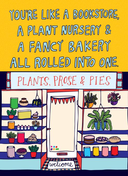 Bookstore, Plant Nursery & Fancy Bakery