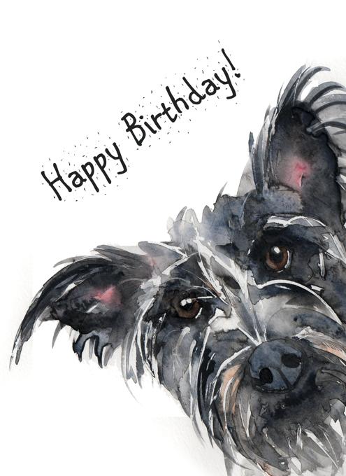 Deerhound Happy Birthday